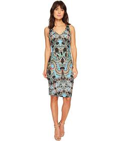 Nicole Miller Double V-Neck Dress