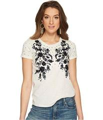 Lucky Brand Embroidered Sequin Tee