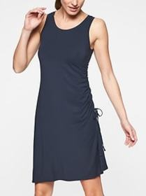 Side Gather T-Shirt Dress