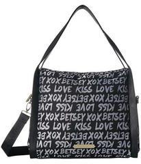 Betsey Johnson Jacquard Logo Hobo