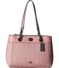 COACH Turnlock Edie Carryall in Quilted Leather