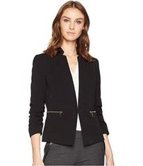 Tahari by ASL Bistrech Star Neck Jacket with Rouch
