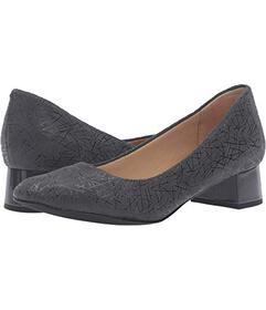 Trotters Dark Grey Graphic Embossed Leather