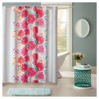 Suri Floral Microfiber Printed Shower Curtain (72\