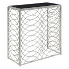 Gold Coast Tranquility Console Table Silver/Black