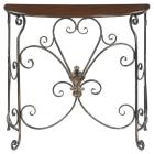 Wyoming Entryway Table - Oak Veneer / Antique Blac