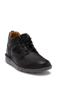 Clarks Unnature Time Mid-Top Leather Sneaker