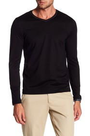 BOSS Tullgren Long Sleeve V-Neck Tee