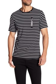 Karl Lagerfeld Short Sleeve Striped Paris Tee