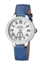 Gevril Women's Astor Diamond Leather Strap Watch