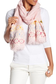 Tory Burch Embellished Oblong Scarf