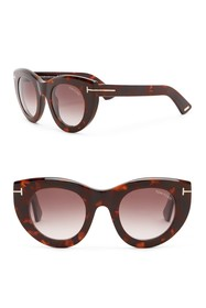 Tom Ford Marcella 48mm Rounded Cat Eye Sunglasses