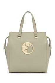 VERSACE COLLECTION Medusa Head Pebbled Leather Tot