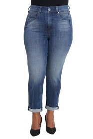 Seven7 Tummyless Rolled Slim Straight Jeans (Plus