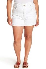 Seven7 High Rise Single Cuff Shorts (Plus Size)