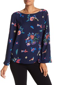 Philosophy Apparel Long Sleeve Print Blouse