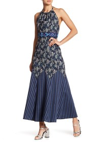 Anna Sui Wanderlust Jacquard Stripped Dress