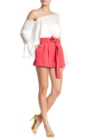 Parker High Waisted Crepe Shorts