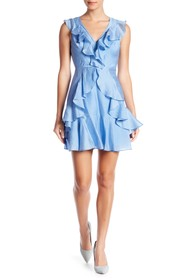 bebe A Line Dress With Ruffle Detail
