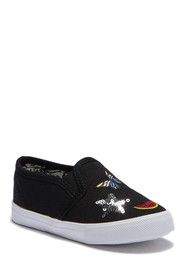 Nicole Miller Embroidered Patches Slip-On Sneaker
