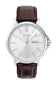 BOSS Men's Quartz Leather Strap Watch