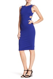 French Connection Lula Cutout Detail Sleeveless Dr