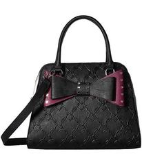 Betsey Johnson Studded Bow Dome Satchel