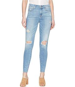 7 For All Mankind The High-Waist Ankle Skinny w/ D