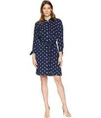 Jones New York Belted Tie Sleeve Shirtdress