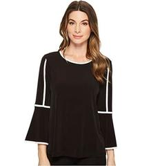 Calvin Klein Bell Sleeve Top w/ Pipping