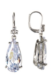 Marchesa CZ Pear Drop Earrings