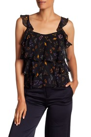 Rebecca Minkoff Alexis Patterned Ruffle Top