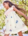 Embroidered Posy Smock Dress
