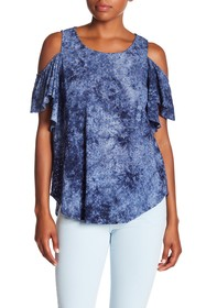 Karen Kane Eyelet Lace Cold Shoulder Top