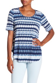 Karen Kane Patterned Scoop Neck Tee