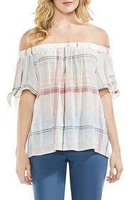Vince Camuto Crinkle Stretch Cotton Off the Should