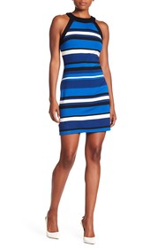 Karen Kane Modern Stripe Halter Dress