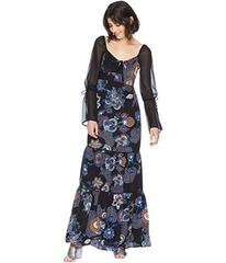 Juicy Couture Silk Romanov Floral Maxi Dress