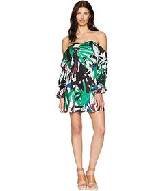 ALEXIA ADMOR Printed Off the Shoulder Flare Dress