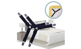 4pcs Triangle Bed Sheet Holder Fastener Grippers C