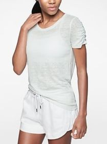 Linen Ruched Tee