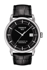 Tissot Men's Luxury Powermatic 80 COSC Leather Wat