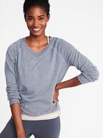 Relaxed Exposed-Elastic French-Terry Sweatshirt fo
