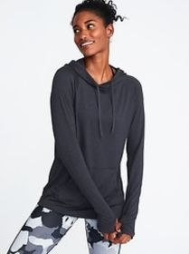 Semi-Fitted Pullover Performance Hoodie for Women