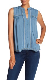 Lucky Brand Lucky Embroidered Tank Top