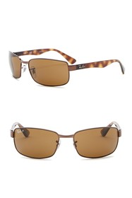 Ray-Ban 60mm Polarized Navigator Sunglasses