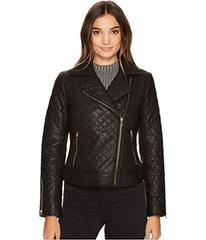 Cole Haan Diamond Quilted Moto w/ Exposed Zippers
