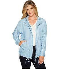 TWO by Vince Camuto Washed Indigo Tencel Anorak