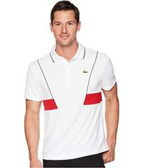 Lacoste Short Sleeve Pique Ultra Dry w/ Contrast B