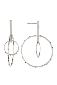 Rebecca Minkoff Silver Plated Ellie Floating Orb E